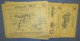 Planches D'Instructions Pour Retroprojecteur-Saint Etienne M.1907 T-France 40 - Documents