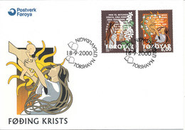 Faroe Islands FDC 18-9-2000 Christmas Stamps Complete Set With Cachet - Faroe Islands
