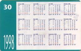 TARJETA TELEFONICA DE DINAMARCA. TDD007, CALENDAR 1998 (050) - Dinamarca