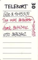 TARJETA TELEFONICA DE DINAMARCA. TDD010, Phone Message Board (051) - Dinamarca