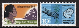 Nauru 1968 Set Of Stamps Issued To Celebrate Independence. - Nauru
