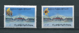 MYANMAR BIRMA BURMA 2010 Mi # 389 - 390 62th ANNIVERSARY Of INDEPEDENCE DAY MNH - Myanmar (Burma 1948-...)