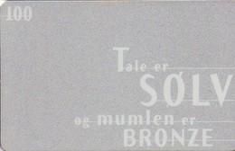 TARJETA TELEFONICA DE DINAMARCA. TDD016, Talk Is Silver (034) - Dinamarca