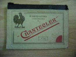2 Cartes Lettres à Talon Et Double Feuille COQ Chantecler N° 140 - Curiosités: Carnets