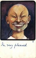 "China, Caricature Chinese Man, ""I'm Very Pleased"" (1904) Tuck Postcard - China"