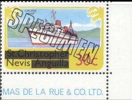 NEVIS 1980 Cruise Ship 30c CORNER.SPECIMEN - St.Kitts And Nevis ( 1983-...)