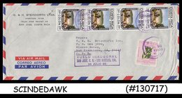 COSTA RICA - 1980 AIR MAIL Envelope To San Francisco USA With 5-stamps - Costa Rica