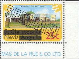 NEVIS 1980 Craft House Electricity 25c CORNER.SPECIMEN - St.Kitts And Nevis ( 1983-...)