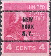 STATI UNITI 1939 - PRESIDENTE JAMES MADISON - 1 VALORE NUOVO PRE-TIMBRATO - United States