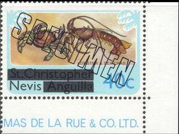 NEVIS 1980 Lobster Sea Crab 40c CORNER.SPECIMEN - St.Kitts And Nevis ( 1983-...)