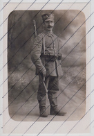 123699 Foto Photo Deutscher Landwehr Soldat In Uniform Mit Helm - 1914-18