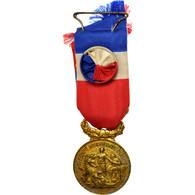 France, Académie Du Dévouement National, Médaille, Good Quality, Gilt Bronze - Army & War