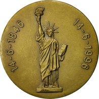 France, Médaille, Libéralisme, Statue De La Liberté, 1996, SUP+, Bronze - Autres