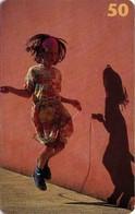TARJETA TELEFONICA DE DINAMARCA. TDD025, Girl With Skipping Rope (063) - Dinamarca