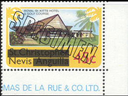 NEVIS 1980 Golf Course Royal Hotel 45c CORNER.SPECIMEN - St.Kitts And Nevis ( 1983-...)