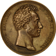 France, Médaille, Louis Antoine D'Artois, Duc D'Angoulème, Trocadéro, 1826 - France