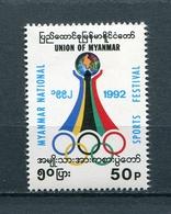 MYANMAR BIRMA BURMA 1992 Mi # 310 National Sports Festival MNH - Myanmar (Burma 1948-...)
