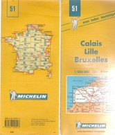 Carte Michelin N°51 Calais - Lille Bruxelles 1999 - Roadmaps
