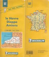 Carte Michelin N°52  Le Havre Dieppe Amiens 1999 - Roadmaps