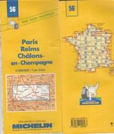 Carte Michelin N°56 - Paris Reims Chalons-en-champagne- 1998 - Roadmaps