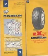 Carte Michelin N°57 - Verdun Wissembourg - 1972 - Roadmaps