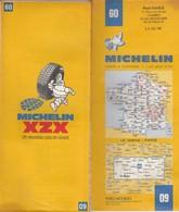 Carte Michelin N°60 - Le Mans Paris - 1980 - Roadmaps
