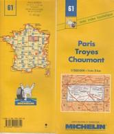 Carte Michelin N°61 - Paris Troyes Chaumont - 2000 - Roadmaps