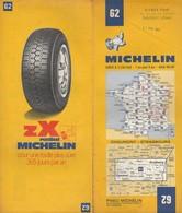 Carte Michelin N°62 -Chaumont Strasbourg - 1972 - Roadmaps