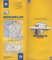 Carte Michelin N°65 - Auxerre Dijon - 1982 - Roadmaps