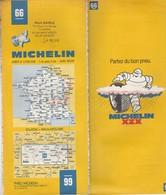 Carte Michelin N°66 - Dijon Mulhouse- 1982/1983 - Roadmaps