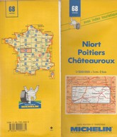 Carte Michelin N°68 - Niort Poitiers Châteauroux - - Roadmaps