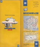 Carte Michelin N°69 - Bourges Mâcon - 1982 - Roadmaps