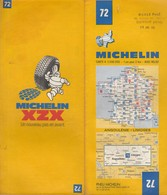 Carte Michelin N°72 - Angoulême Limoges - 1980 - Roadmaps