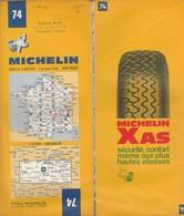 Carte Michelin N°74 - Lyon Genève - 1972 - Roadmaps