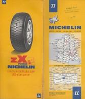 Carte Michelin N°77- Valence Grenoble - 1973 - Roadmaps