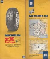 Carte Michelin N°80- Rodez Nimes - 1974 - Roadmaps