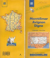 Carte Michelin N°81 - Montellimar Avignon Digne - 1993 - Roadmaps