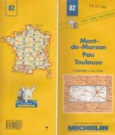Carte Michelin N°82 - Mont De Marsan Pau Toulouse - 1995 - Roadmaps