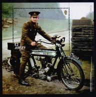 JERSEY 2018 - The Great WAR 100 Years, Corporal Robert Motorcycle Despatch Rider, Miniature Sheet MNH - Jersey