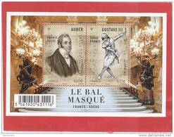 2012  BLOC NEUF** LE BAL MASQUE FRANCE SUEDE - F4706 - F 4706-                                  TDA271 - Blocs & Feuillets