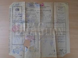 DC31.5  Travel Document -Lettre De Transport -Romania CFR  Railway Train POIENI  Episcopia Bihor - Vama Oradia Mare 1925 - Transportation Tickets