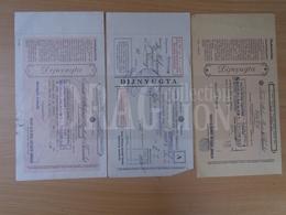 DC31.7   Assicurazione Generale Di Trieste - Halmay -Kőszeg - 1929-40  Lot Of 3 Receipts - Facturas & Documentos Mercantiles