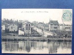 91 ,orsay ,le Mail Et L'étang Début 1900 ........circulée Timbrée - Orsay
