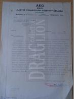 DC31.8  Hungary  AGEG  Unio - Magyar Villamossági Részvénytársaság - Letter  1944 Rimamurány Salgótarján Ózd - Rechnungen