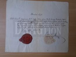 DC31.10  Old Document  Leonard TIHÓB - Pest 1871 - Announcements