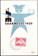 Saargebiet Saar Sarre - Saarmesse (MiNr: 447) 1959 - Postkarte - FDC