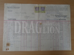 DC31.12  Hungary  -Old Commercial Document -  HANGYA Fogy. Szövetkezet - 1923 -  Revenue Stamps - Invoices & Commercial Documents