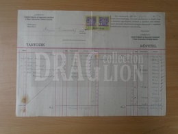 DC31.14  Hungary  -Old Commercial Document -  HANGYA Fogy. Szövetkezet - 1923  Revenue Stamps - Invoices & Commercial Documents