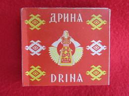 TOBACCO VINTAGE CARDBOARD BOX  DRINA - FACTORY NIŠ SERBIA WITH CIGARETTES INSIDE - Contenitori Di Tabacco (vuoti)