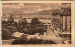 4KSA 735 CPA - GENEVE - PRISE DES ALPES ET LE MONT BLANC - GE Geneva